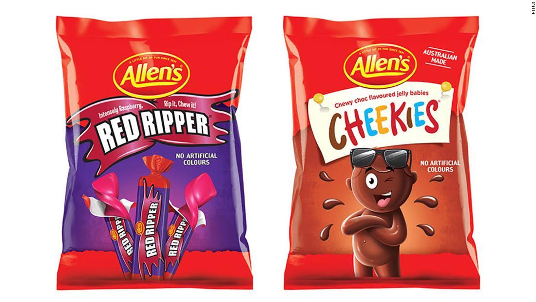 نستله آب نبات Chicos and Red Skins استرالیا را به Cheekies و Red Ripper تغییر نام داد